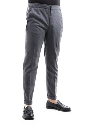 Picture of Grey Wool trousers with drawstring