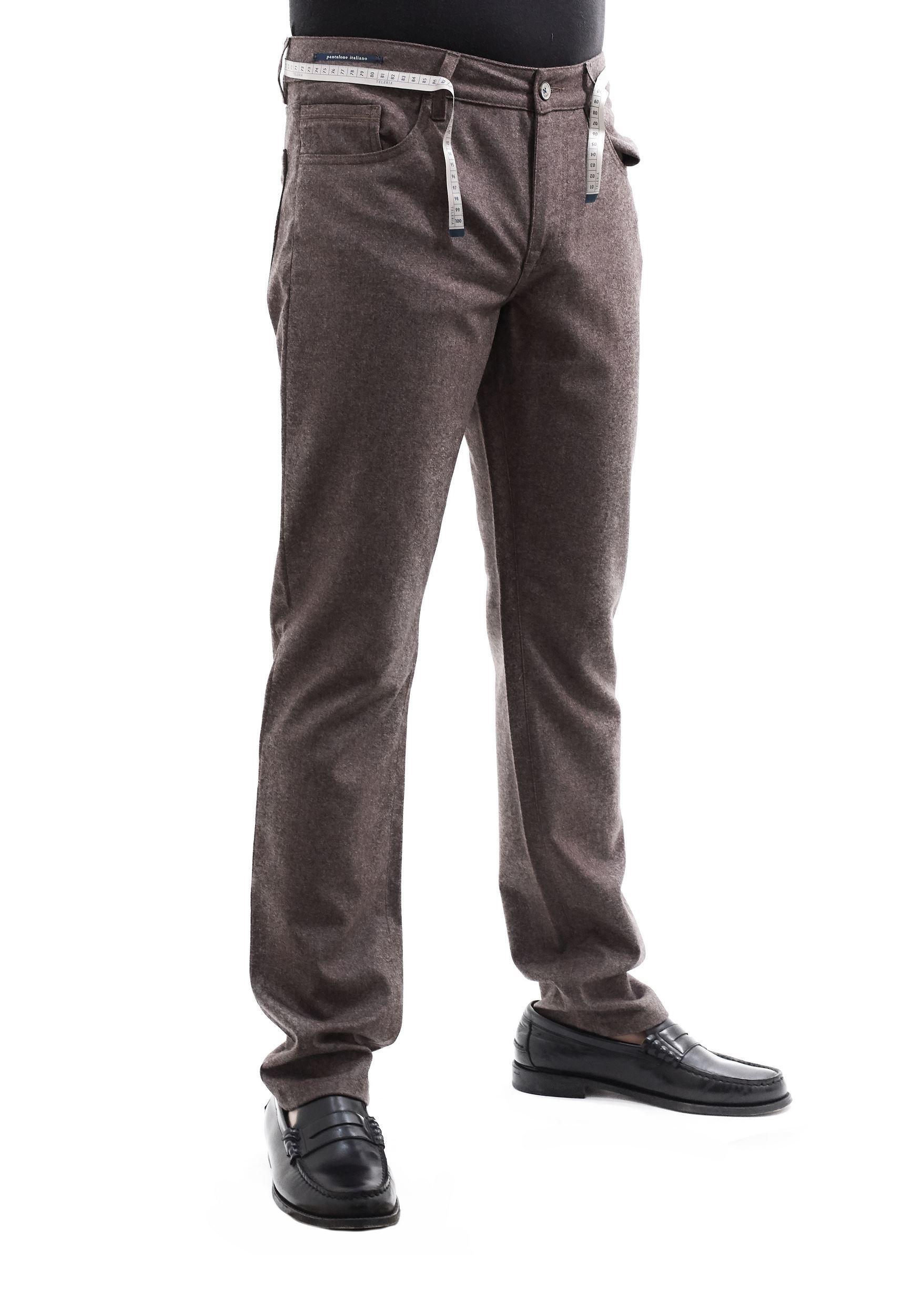 Immagine di Pantalone 5 tasche in lana Marrone