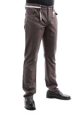 Picture of 5 pockets wool trousers, brown