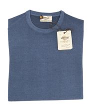 Picture of Stone-Washed round neck merino sweater  colour light blue
