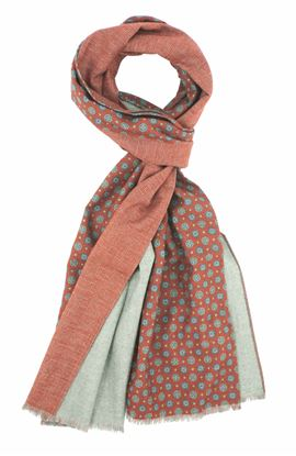 Picture of Double face cotton winter scarf