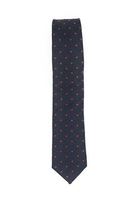 Picture of Silk and cotton tie blue background