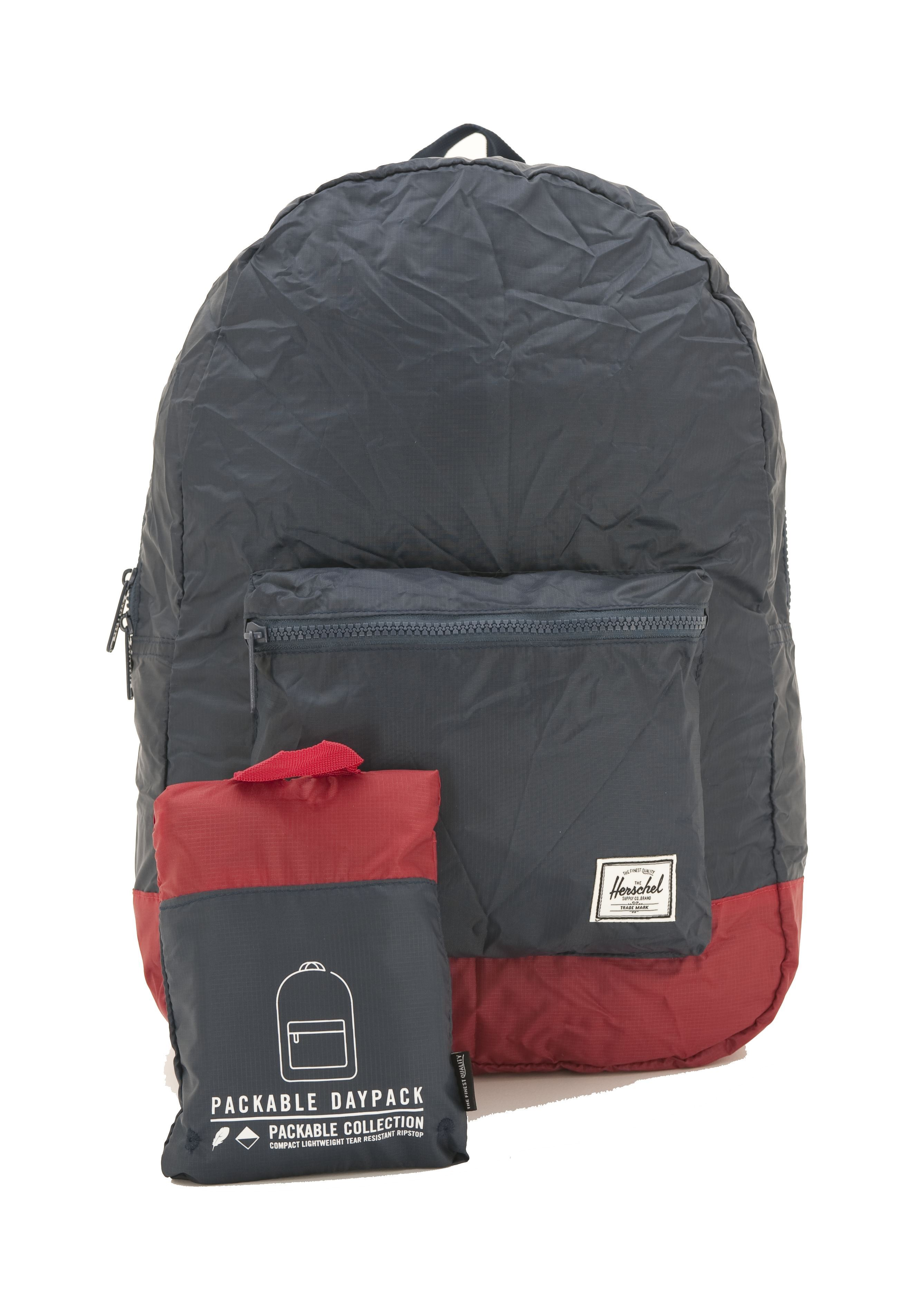 Picture of PACKABLE DAYPACK NAVY RED