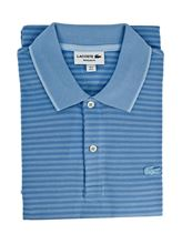 Picture of Lacoste polo with light blue stripes