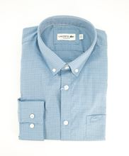Picture of Lacoste chequered shirt with light-blue background
