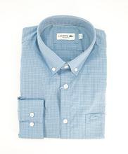 Immagine di Camicia Lacoste a quadri fondo azzurro
