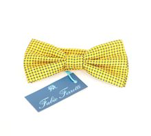 Picture of bow tie yellow background