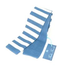 Picture of Light Blue silk knitted tie