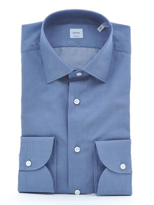 Picture of Blue twill cotton shirt
