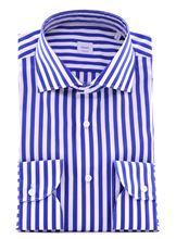 Immagine di Camicia a righe blu e bianche