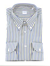Picture of White yellow and blue Striped Shirt