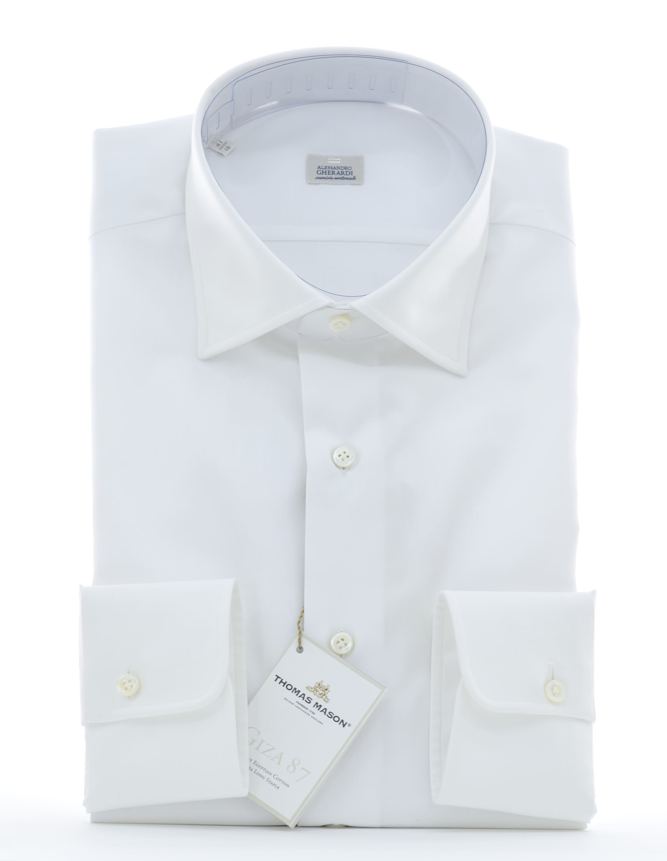 Picture of White twill  cotton  shirt
