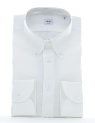 Picture of Camicia lino bianca button down