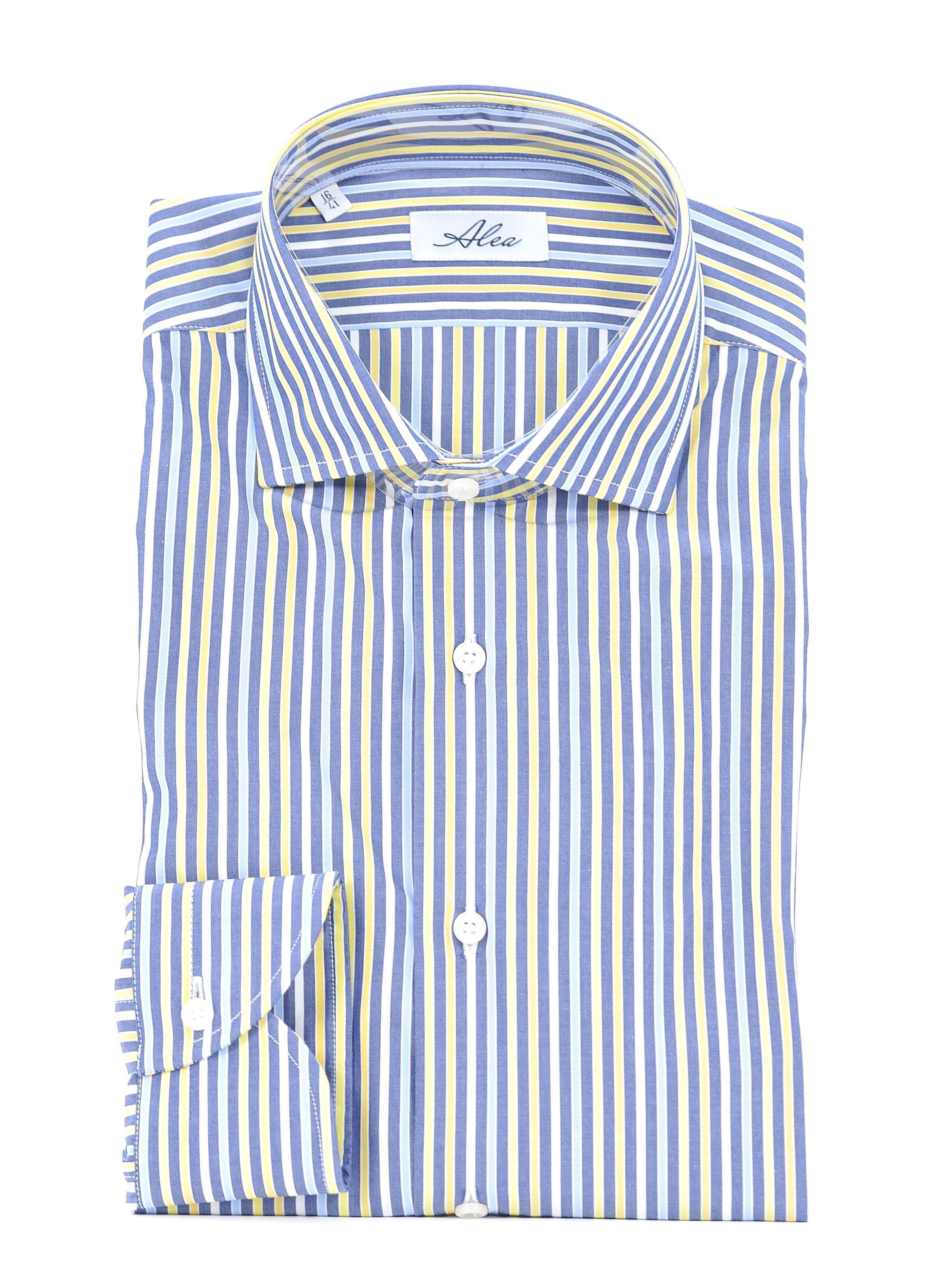 Picture of Camicia manica lunga fondo azzurro