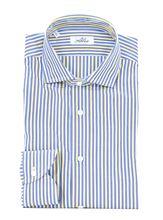 Picture of camicia a righe fondo azzurro