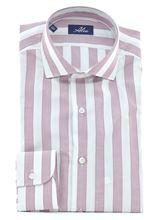 Immagine di camicia a righe bianche e rosa