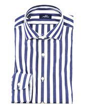 Picture of camicia a righe larghe blu