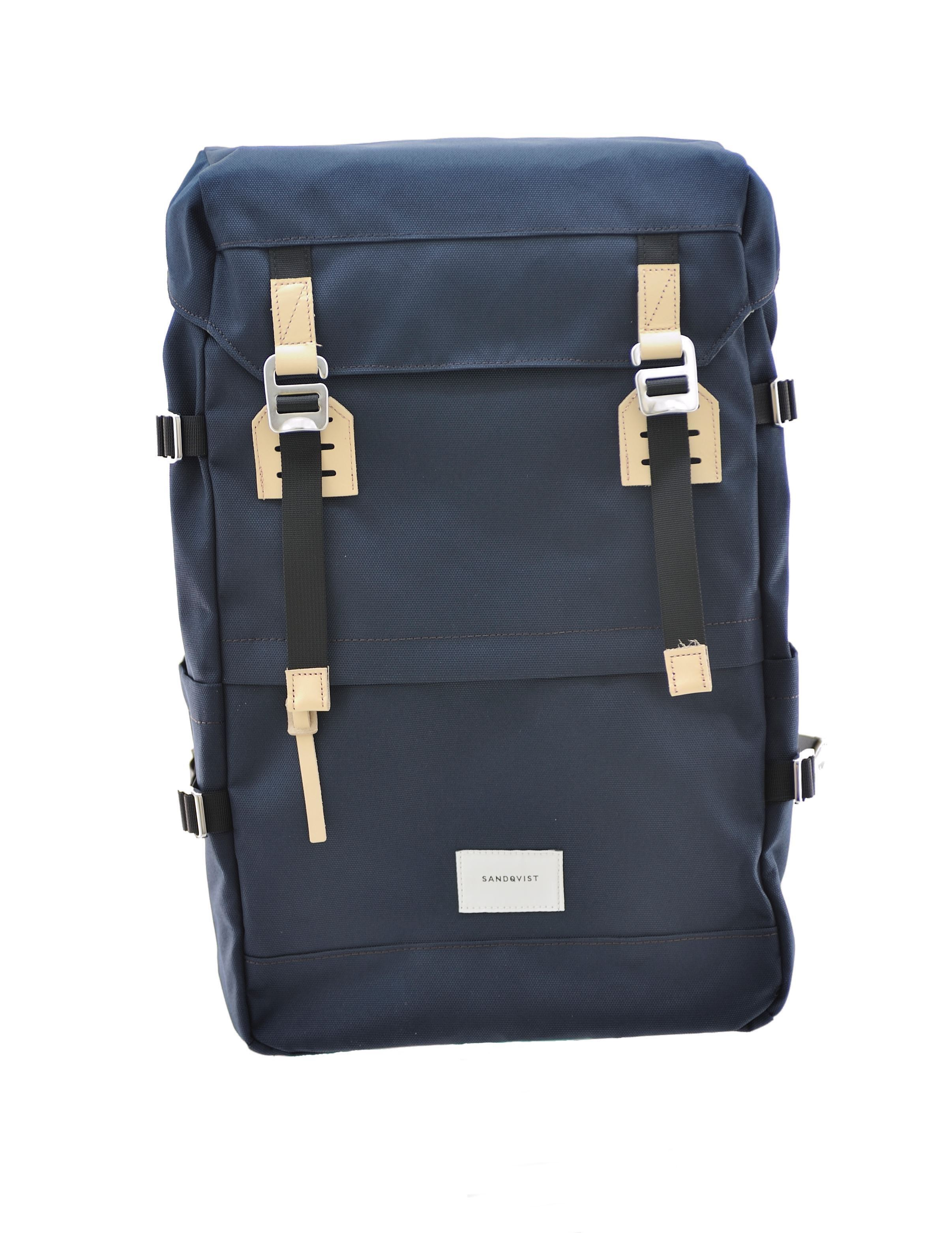 Picture of Harald Navy with Natural Leather