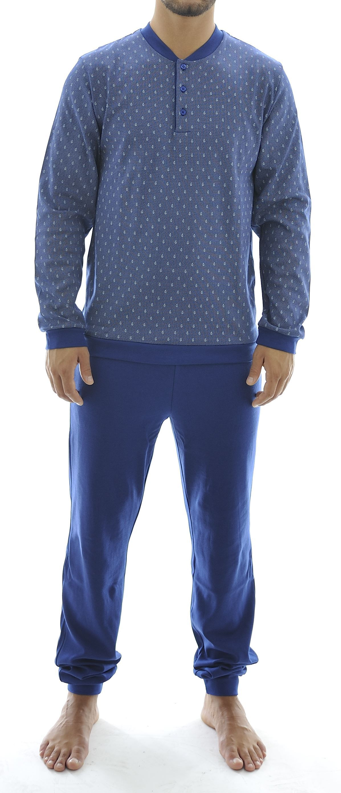 Picture of Men's pyjamas, with 3 buttons, no collar