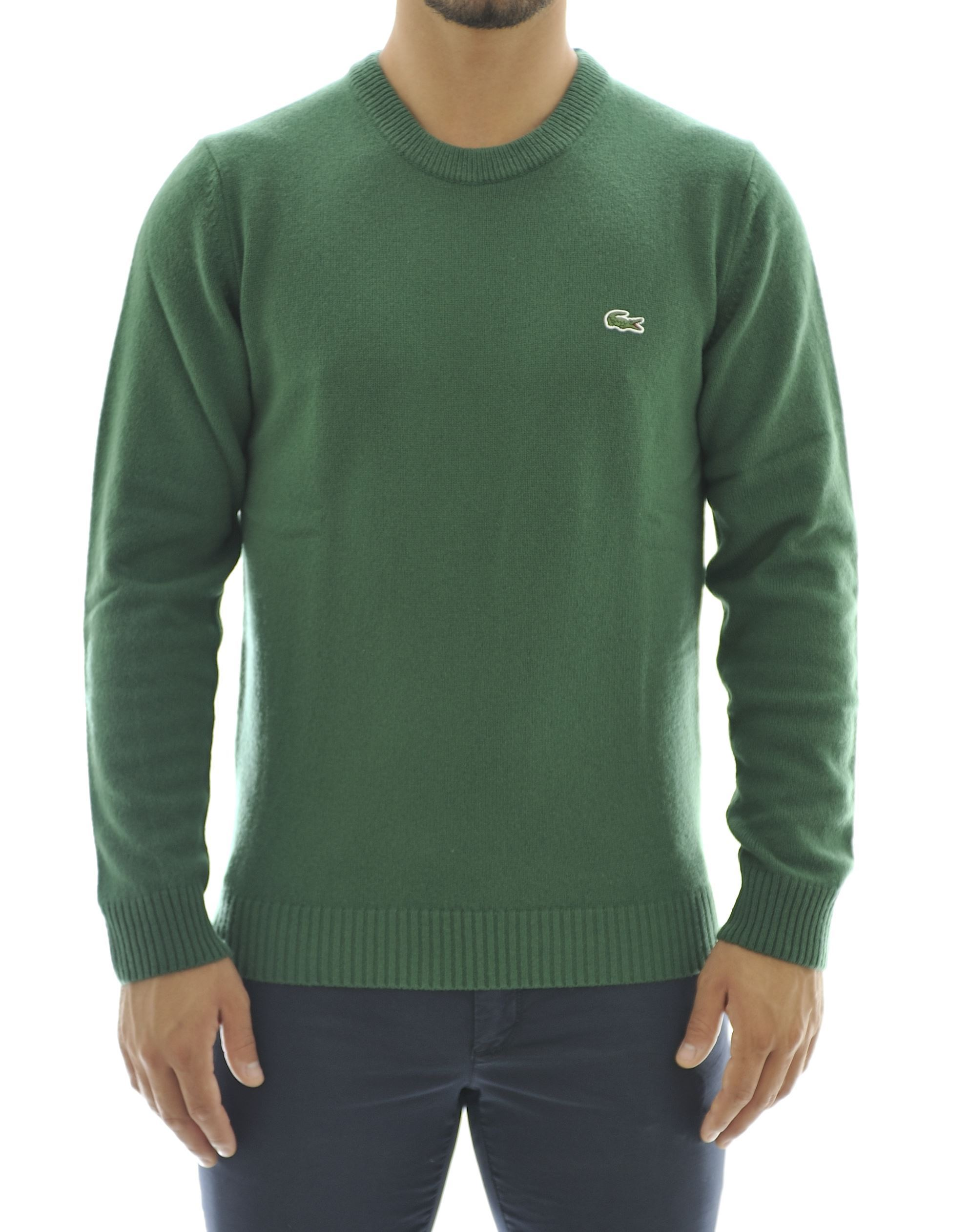 Picture of Green wool crewneck sweater