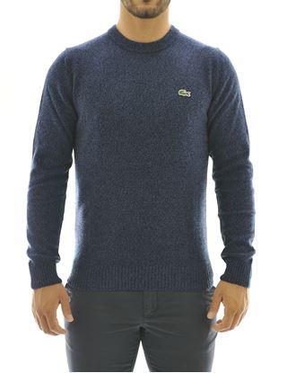 Immagine di girocollo lana blu melange