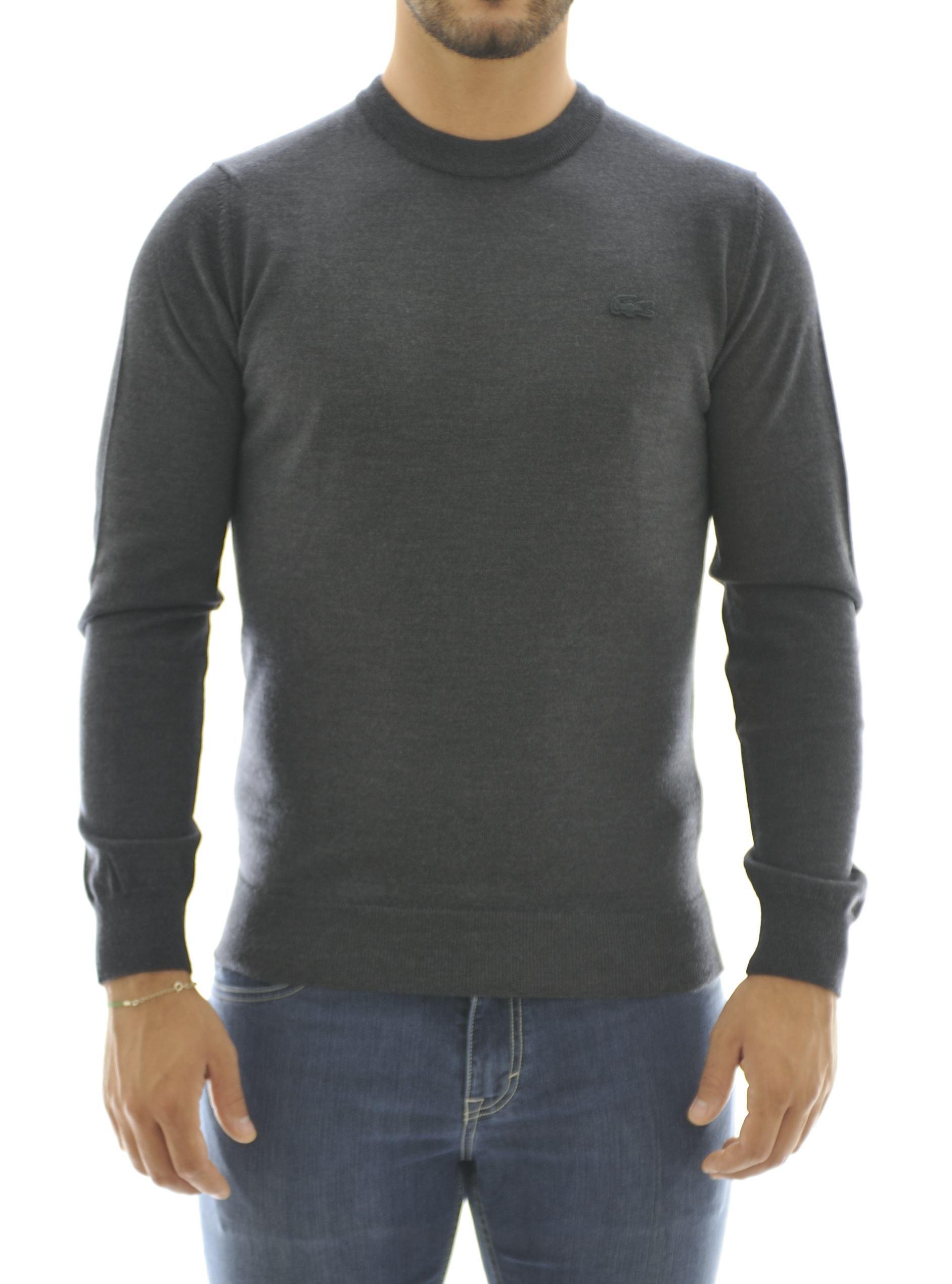 Immagine di Girocollo lana merinos grigio