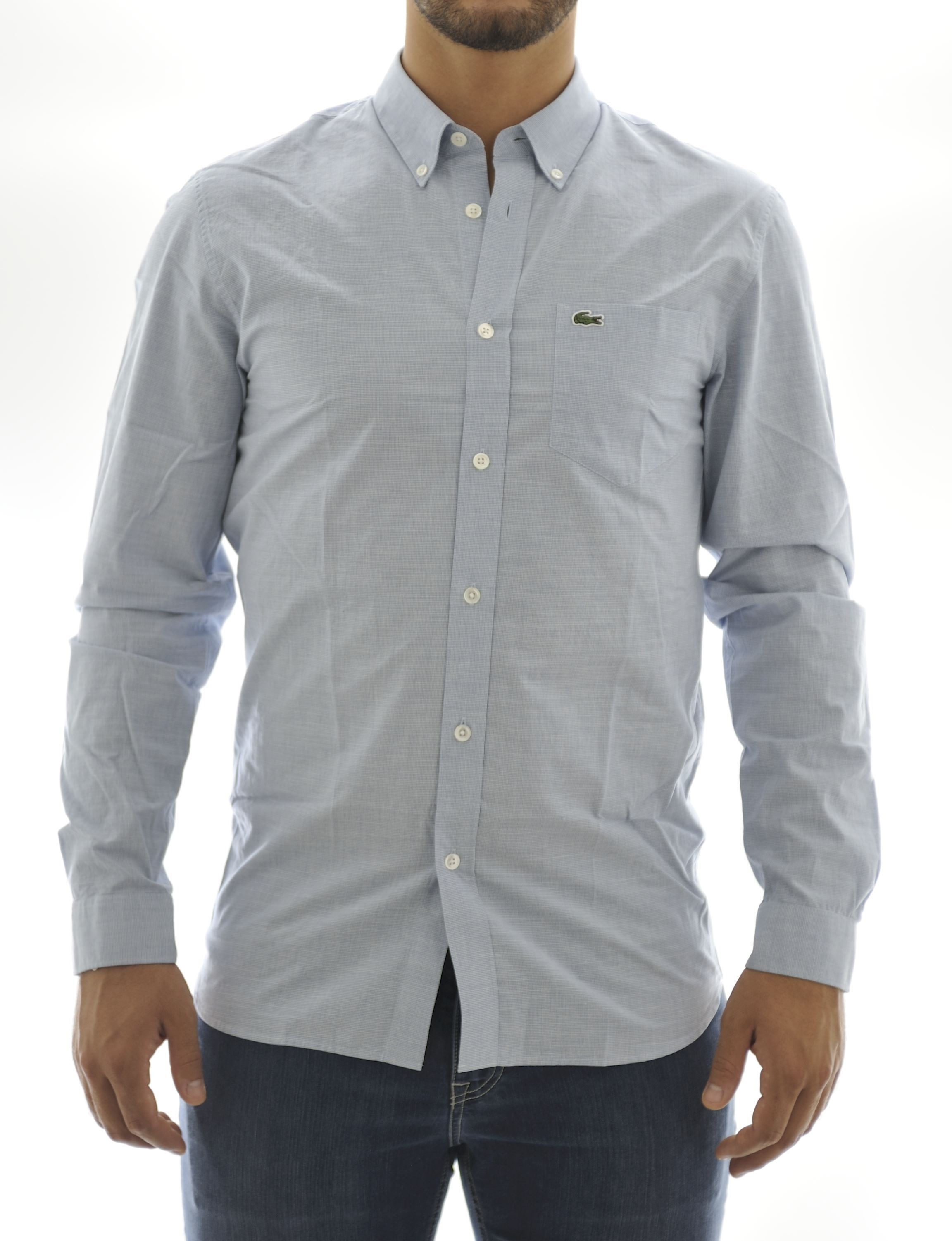 Picture of Longsleeved shirt with light-blue background colour