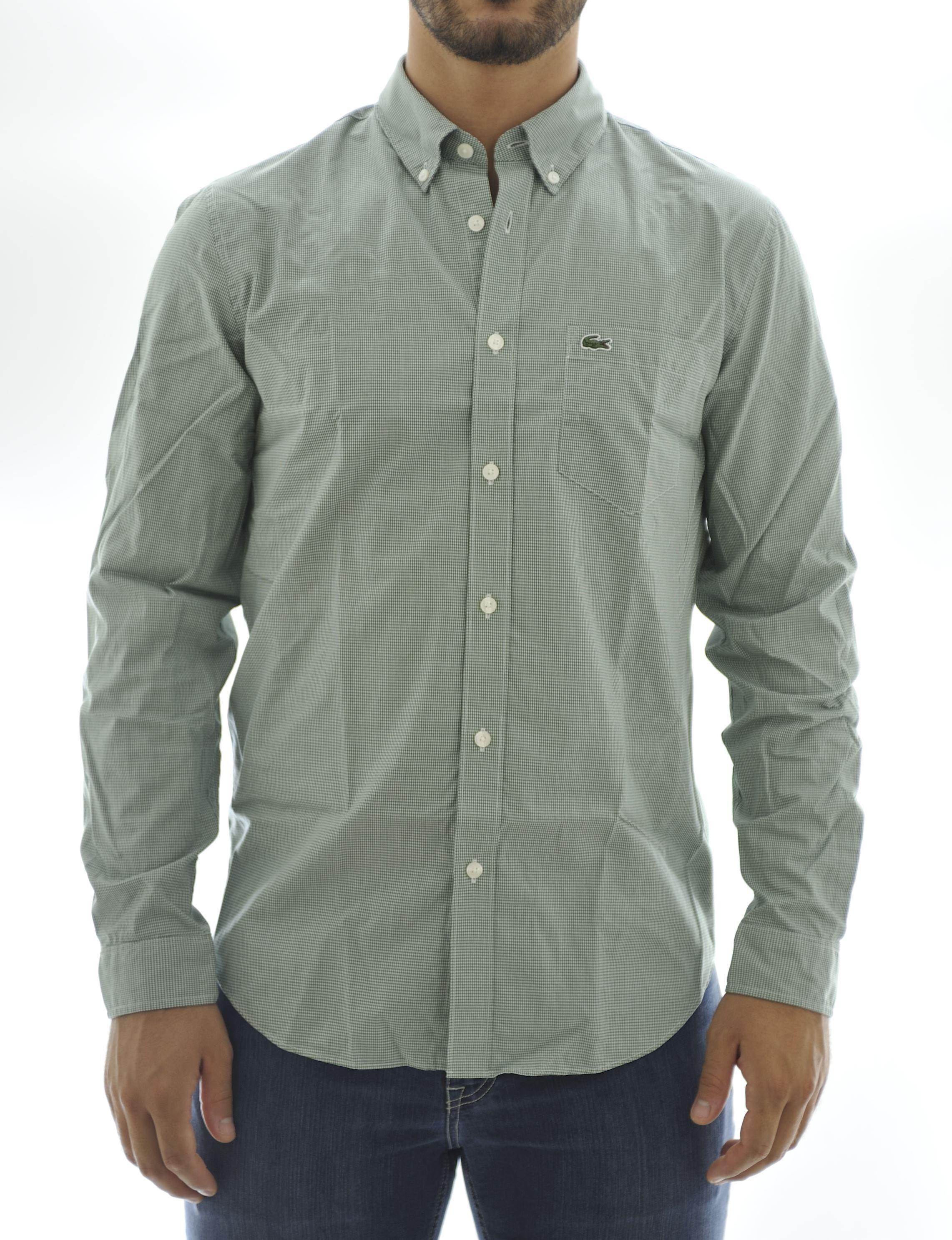 Immagine di Camicia manica lunga fondo verde