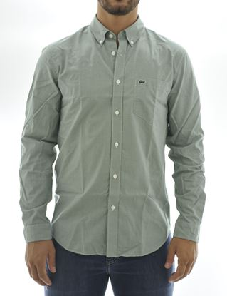 Picture of Longsleeved shirt with green background