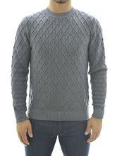 Picture of Dark grey marquetry crew-neck sweater