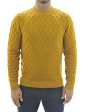 Picture of Dark yellow marquetry crew-neck sweater