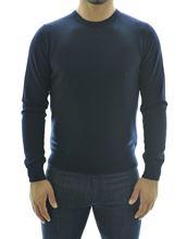 Immagine di Girocollo puro cashmere blu
