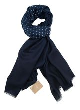 Picture of Altea scarf blue background with white polka dot