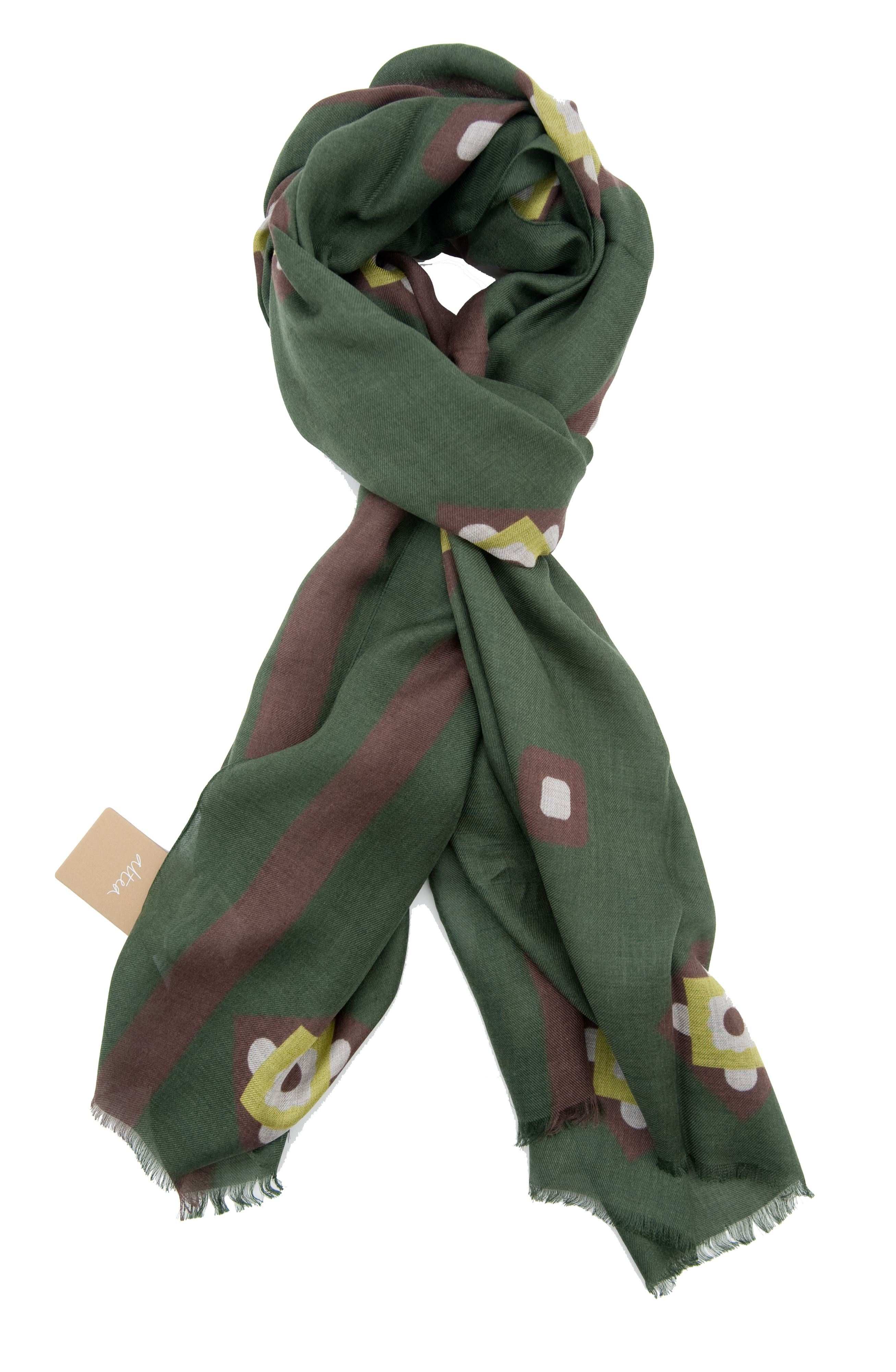 Picture of Modal scarf with green background