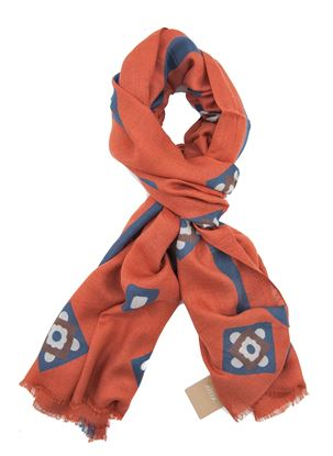 Picture of rust-colored modal scarf