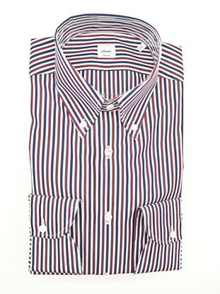 Picture of White blue and red striped shirt