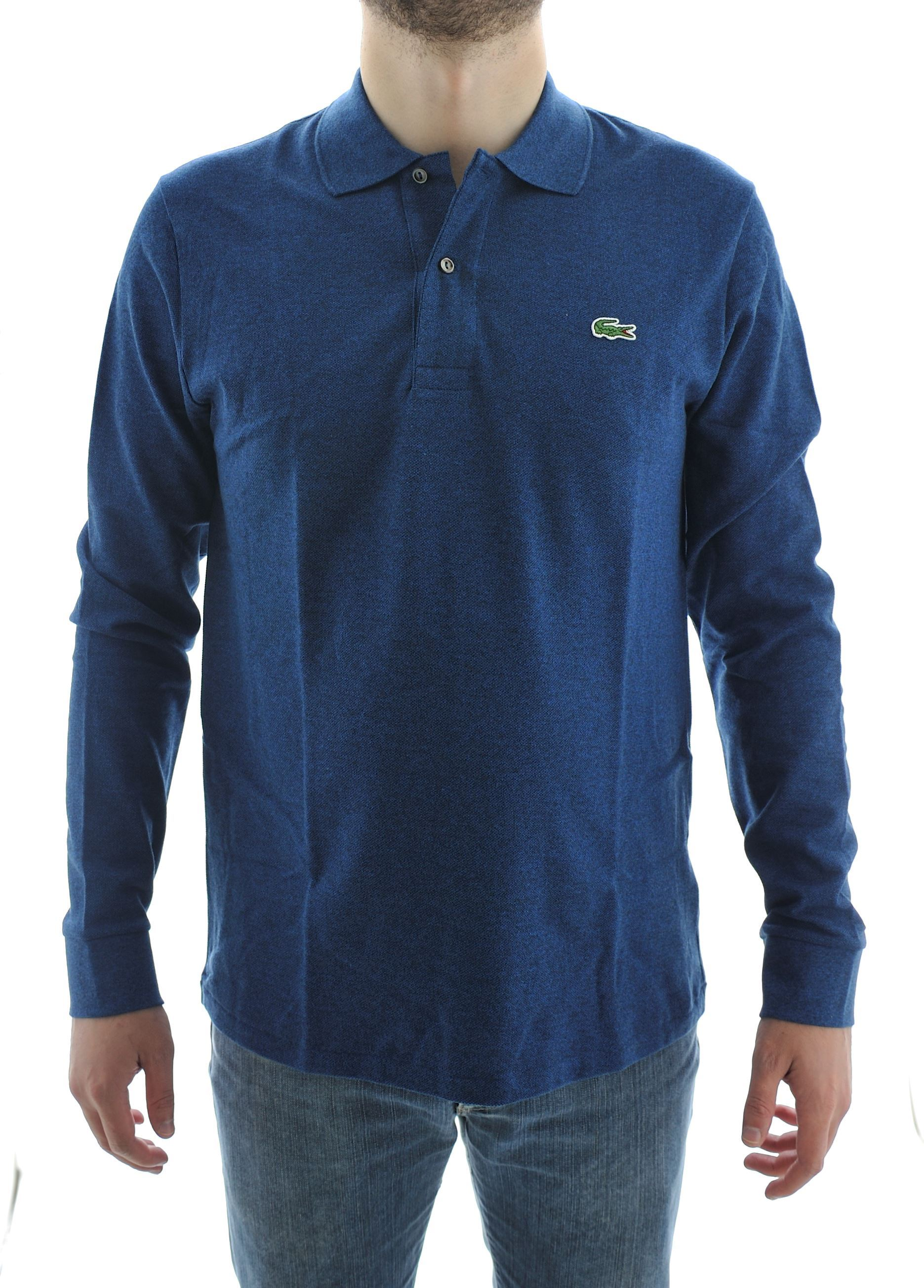 Picture of Lacoste long-sleeved polo Colour  Lue chiné