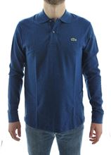 Picture of long-sleeved polo Colour Blue chiné