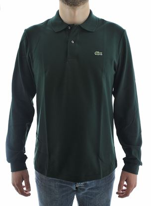 Picture of green Lacoste long-sleeved polo