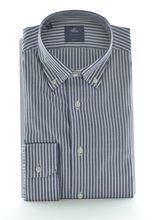Picture of Camicia manica lunga fondo blu