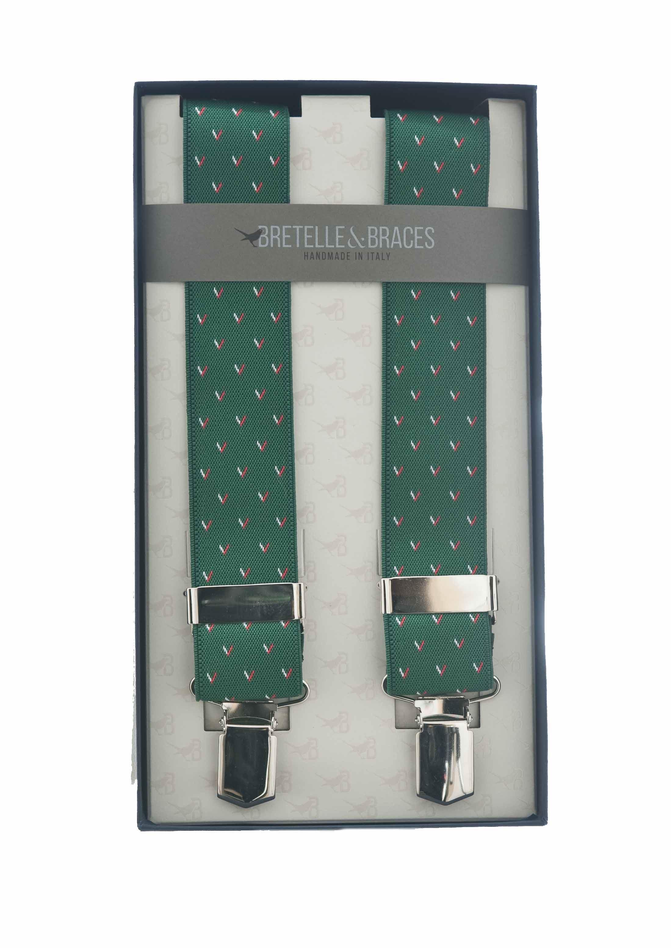 Immagine di Bretelle in elastico fondo verde