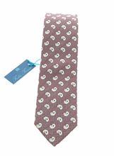 Picture of Cravatta in seta fondo rosso