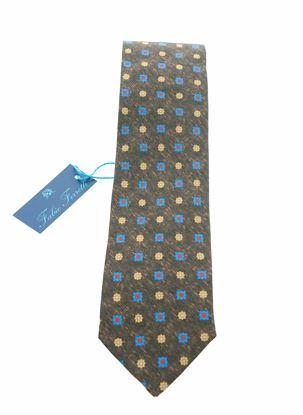 Immagine di Cravatta in seta fondo marrone
