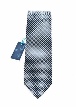 Immagine di Cravatta in seta fondo blu