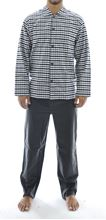 Picture of Grey pattern men's cotton flannel pajamas