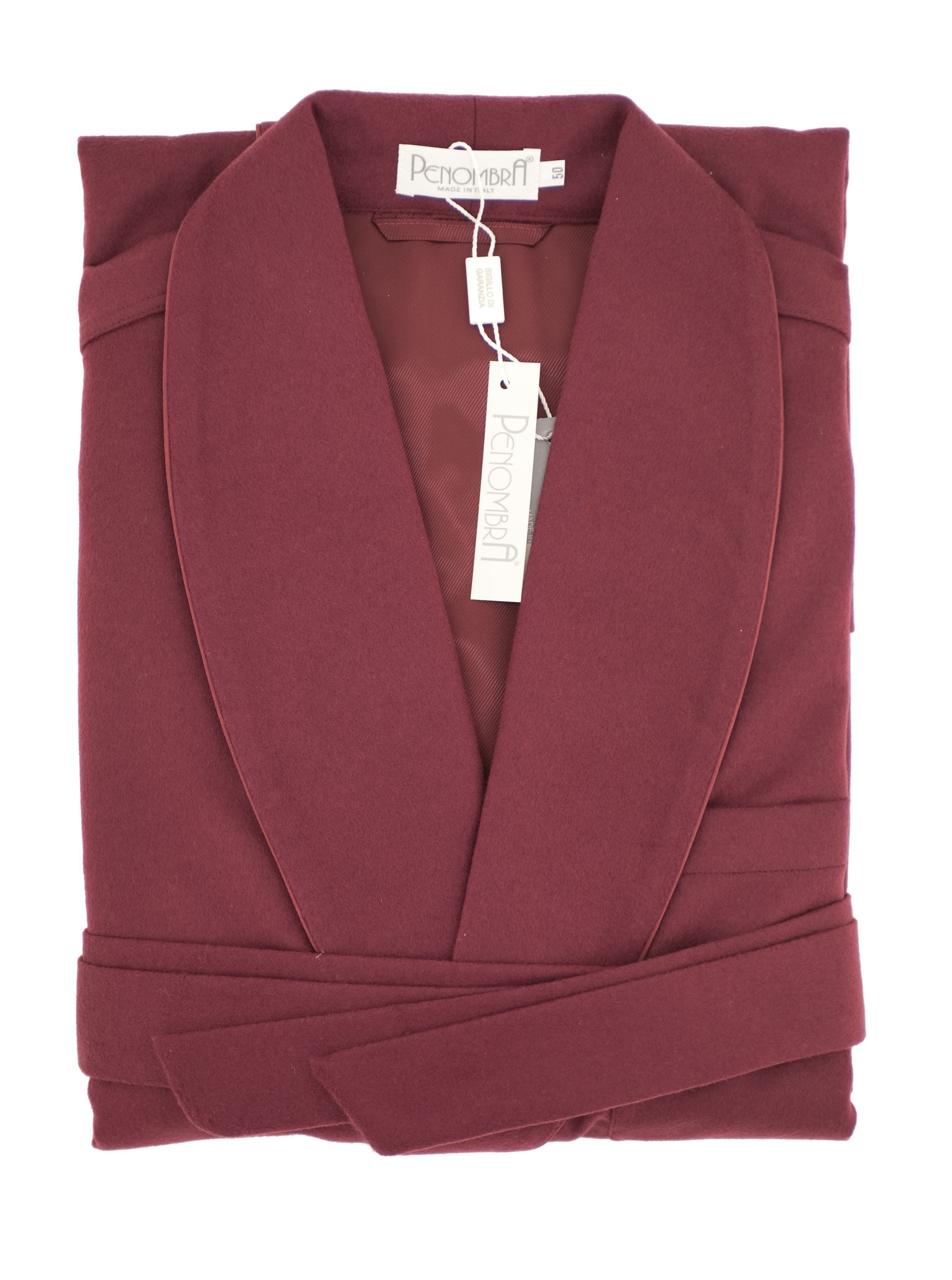 Picture of WOOL/CASHMERE NIGHTGOWN COLOUR BURGUNDY
