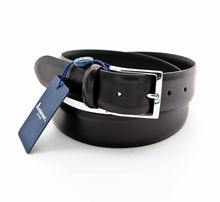 Picture of Black leather seamless belt