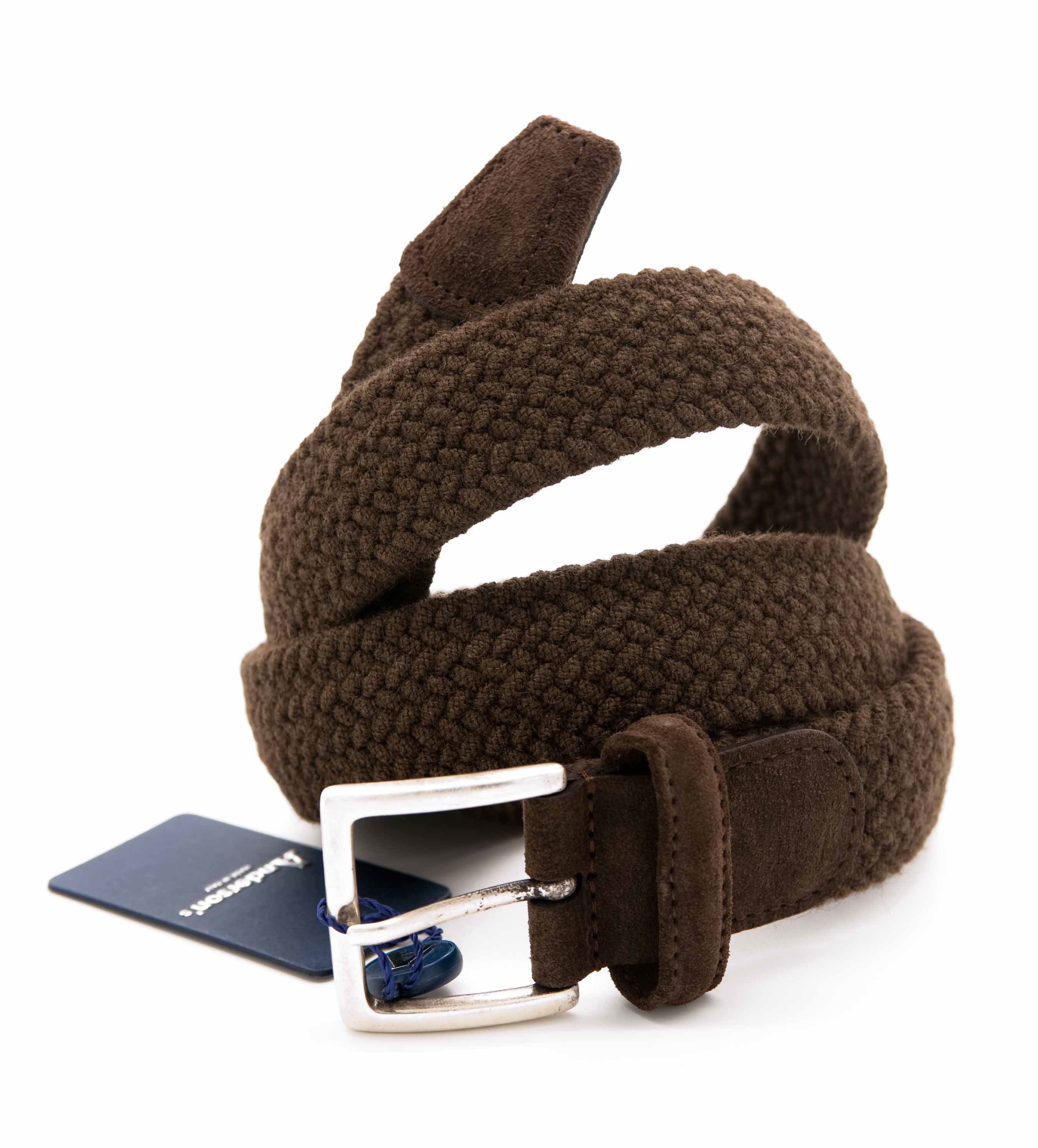 Picture of Brown stretch wool belt