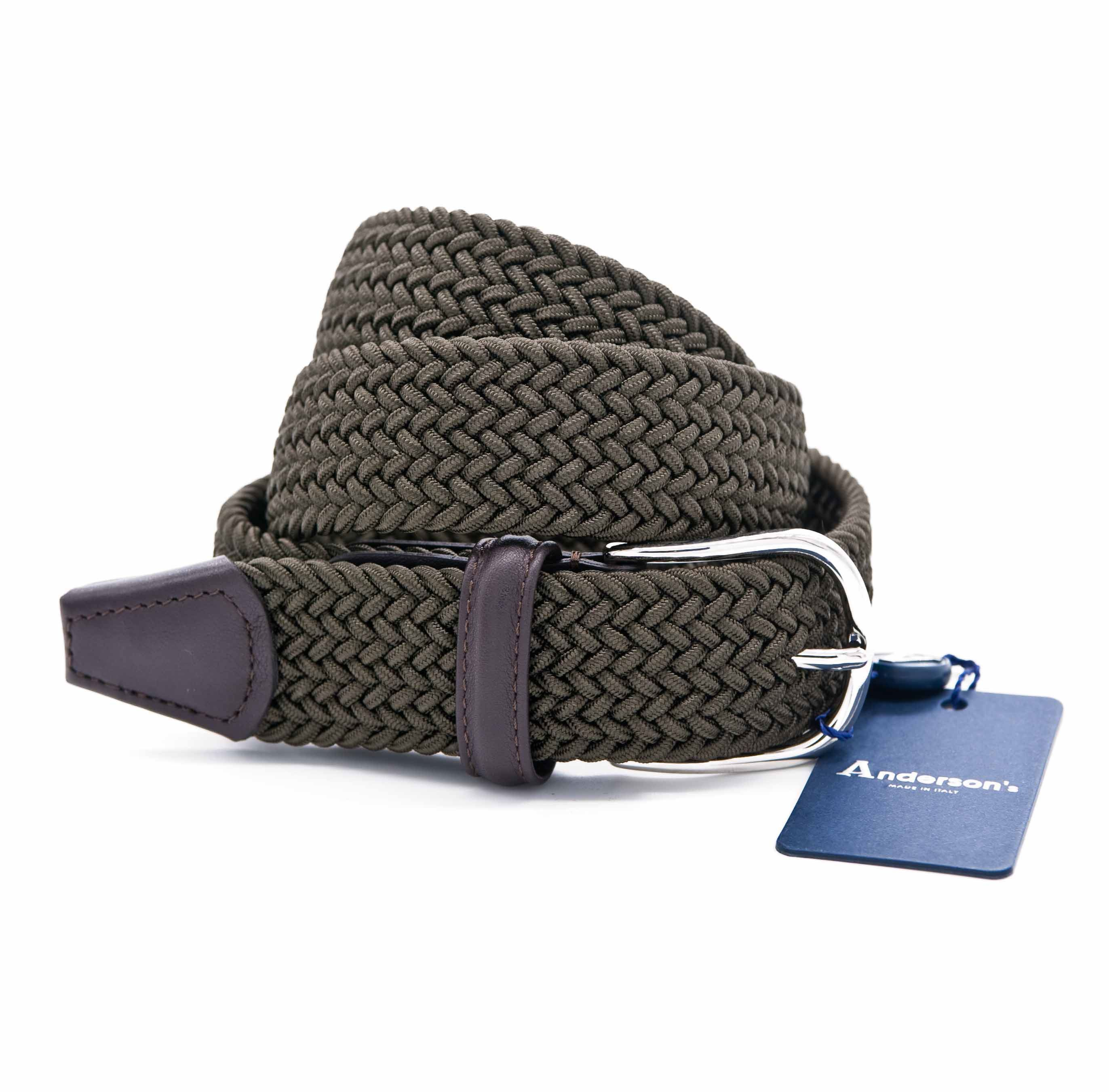 Picture of Military green braided elastic belt