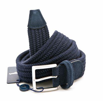Immagine di Cintura blu in lana elastico